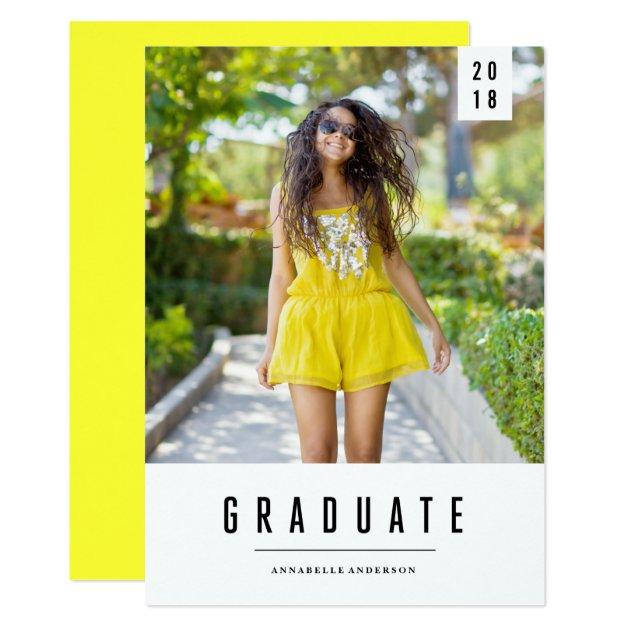 Minimal Banner Graduation Photo Announcement