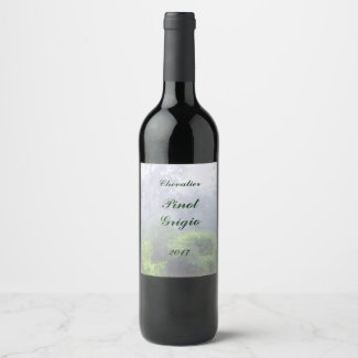 Morning Mist Landscape Wine Label