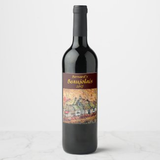 Sunrise at Rustic Country Village Wine Label