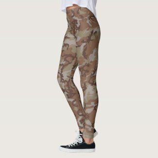 Woodland Camouflage Military Pattern Leggings