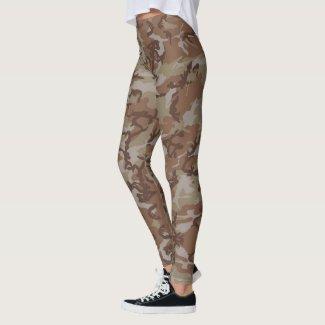Woodland Camouflage Military Pattern Leggings