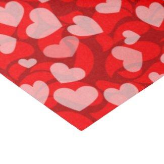 Valentine Hearts pattern tissue paper