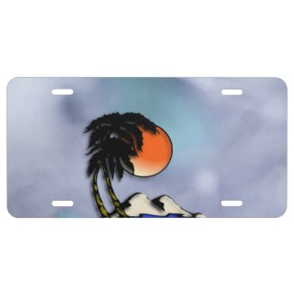 Island Paradise License Plate