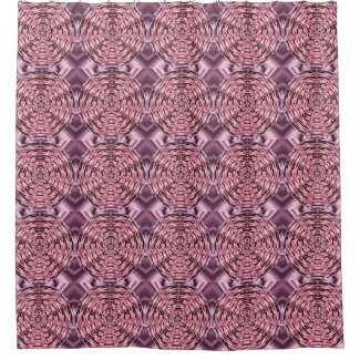 Pink Wine Purple Satin Mandala Shower Curtain