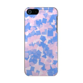 Pink and Blue Confetti Metallic Phone Case For iPhone SE/5/5s