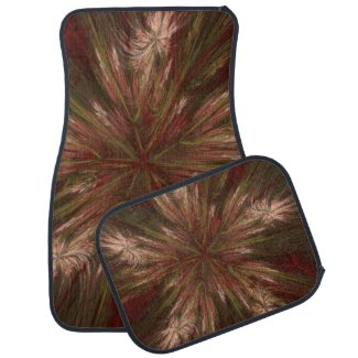 Autumn Burst Fractal Car Mat