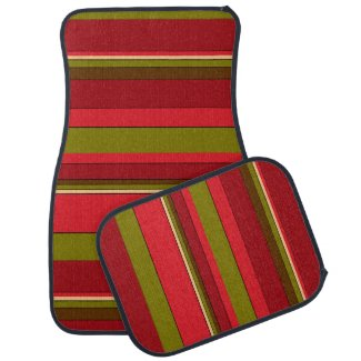 Bold Stripes Car Mat