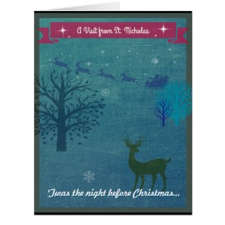 A Dedication to a Visit from St Nicholas Card