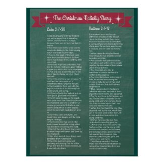The Christmas Nativity Story - in scripture Poster