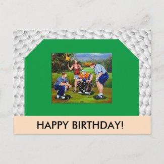 Golf Themed Post Card