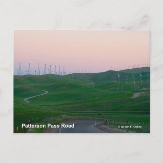 Patterson Pass Road California Products Postcard