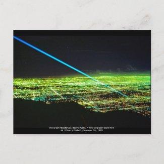 Laser Sculpture by Rockne Krebs Postcard