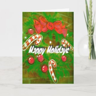 Wreath Painting Holiday Card