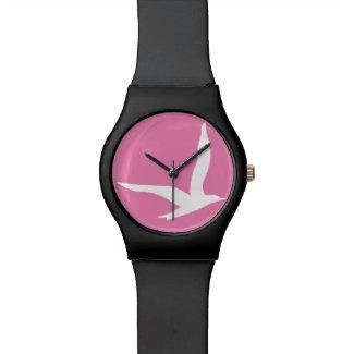 Stay Free Watch (Pink n Black)