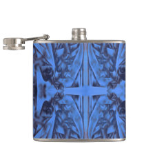 4 Figures Abstract in Blue Flask