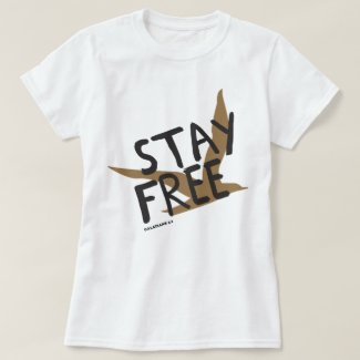 Stay Free Gold Bird Tee Shirt