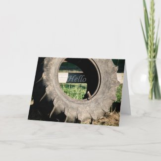 A Simple Hello Blank Greeting Card