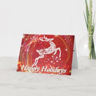 Fancy Reindeer Holiday Card