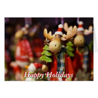 Moose Ornament Greeting Card