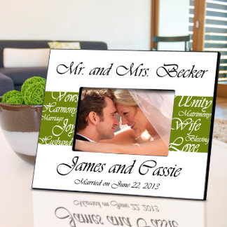 Olive Mr. and Mrs. Wedding Picture Frame