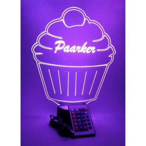 Cupcake Cake Night Light Up Lamp LED Personalized