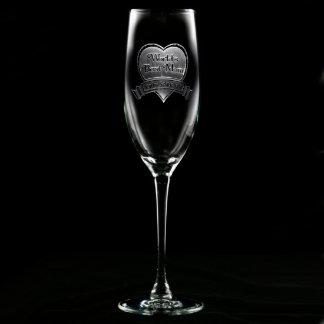 Flauta de champán personalizada la mejor mamá