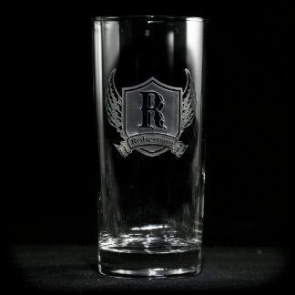 Winged Shield Personalized Cooler Glass