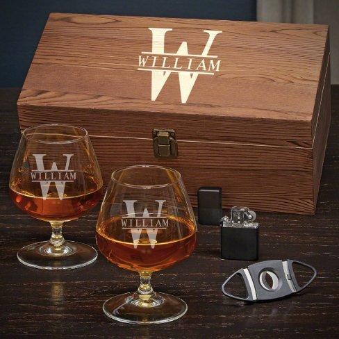 Oakmont Box Set w/ Cigar Tools & Cognac Glasses