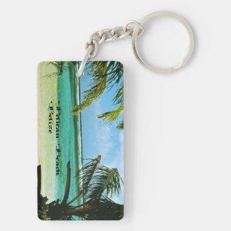 Pelican Beach Belize Keychain