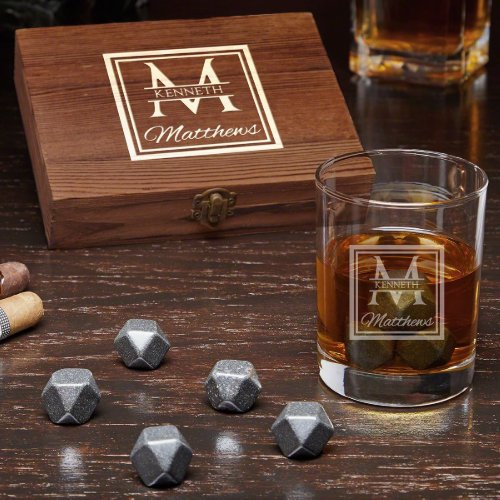 Oakhill Box Set with Stones and Whiskey Glass