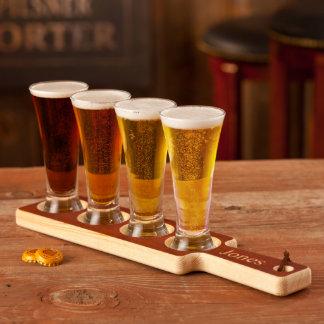 Sistema de madera real de la prueba de la cerveza