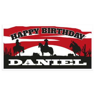 Cowboys Birthday Personalized Banner