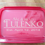 Personalized Wedding Anniversary Name Pyrex Dish
