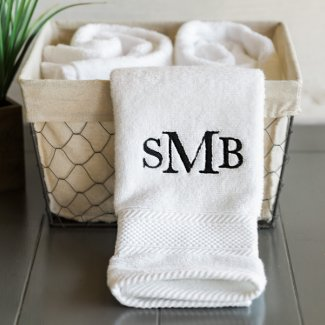 Luxury Miasma Cotton Monogram Spa Bath Towel