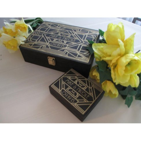 Gatsby Style Wedding Guestbook & Ring Boxcom