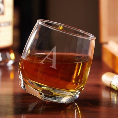 Roly Poly Rocking Personalized Whiskey Glass