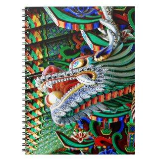 Brilliant Temple Dragon Notebook