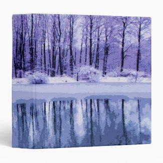 Blue Winter Pond Binder