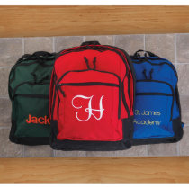Red, Black or Green School Kids Backpack