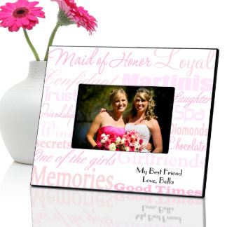 Shades of Pink Personalized Maid of Honor Frame Picture Frame