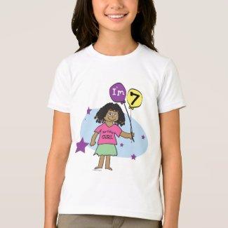 girls 7th Birthday T-shirt