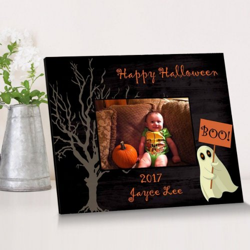 Happy Halloween Ghost Family Picture Frame