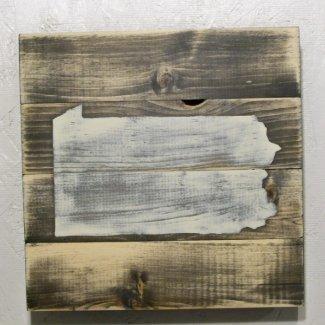 10x10 Distressed Wood Pennsylvania Map