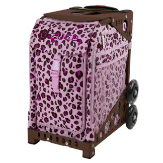 ZÜCA Rolling Bag Pink Leopard & Brown Sport Frame