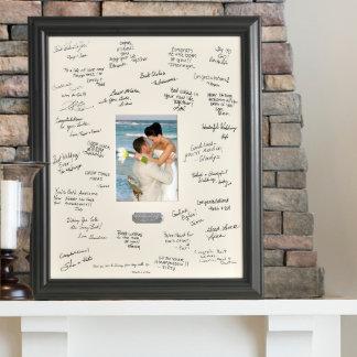 Personalized Wedding Signature Frame