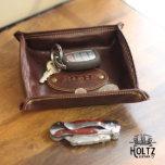 Monticello Fine Brown Leather Desk Caddy