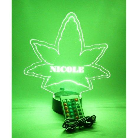 Marijuana Weed Pot Leaf Light Lamp LED Personalize