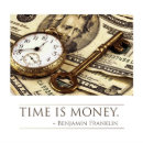 Time Is Money Franklin Quote Poster Zazzle Com