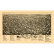 Greensboro Nc Panoramic Map 1891 Poster Zazzle Com