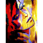 Abstract Portrait Of A Woman Painting Art Prints